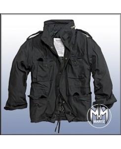 by MMB - M65 Feldjacke Schwarz, Parka US Style Jacke mit Futter