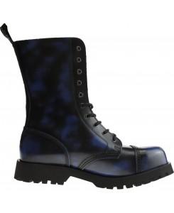 Boots & Braces - 10-Loch blue rubb-off