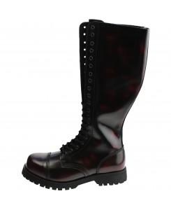 Boots & Braces - 20-Loch Burgundy rub-off