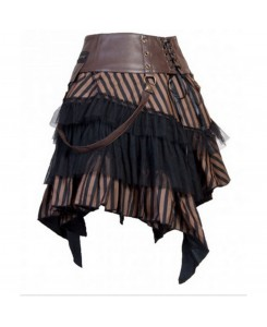 KuroNeko - SteamPunk Cat Skirt Minirock 900275 braun