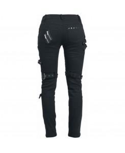 KuroNeko - Black Punk Trousers 205788