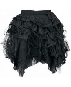 KuroNeko - Short Beggar Skirt schwarz 228013