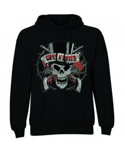 ROCKOFF - Guns N' Roses Distressed Skull Pullover Black