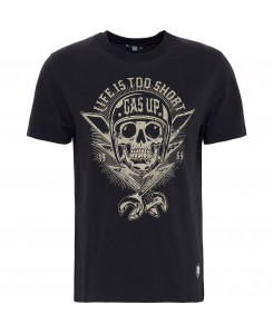 King Kerosin - Herren T-Shirt Life is too short KK220134-200 Black