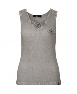 King Kerosin - Damen Tank Top No Bike no ride QK41955158039-800 Grey