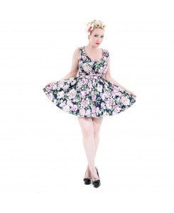 Hearts & Roses London - 8005-Carnation Mini Dress