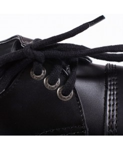 3 Loch Stiefel Rangers Schwarz Made in EU Echtleder Angry Itch