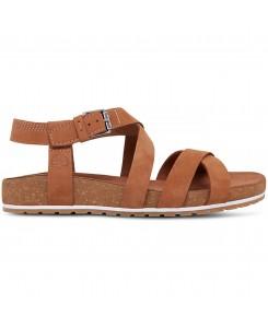 Timberland - Women's Malibu Waves Ankle Strap Sandal TB0A1MQRF13 Rust Nubuck
