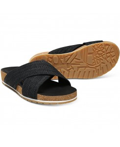 Timberland - Women's Malibu Waves Slide TB0A1XXF Black Embossed Suede