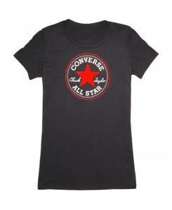 Converse - Core 2 Color Hthr CP Crew Schwarz 12016C 003 T-Shirt