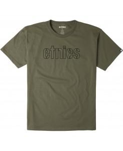 Etnies - Mod Stencil Logo Military Oliv T-Shirt