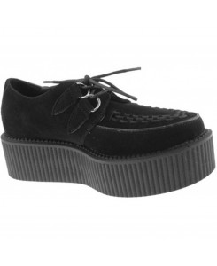 "Industrial Punk - Creeper ""Suede"" Schwarz 234493"
