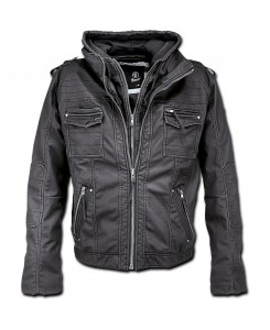 Brandit - Black Rock Hooded Schwarz 2