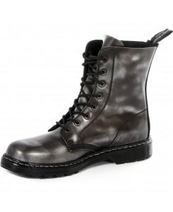 Boots & Braces - easy 8-Loch silver Rub-off schwarz