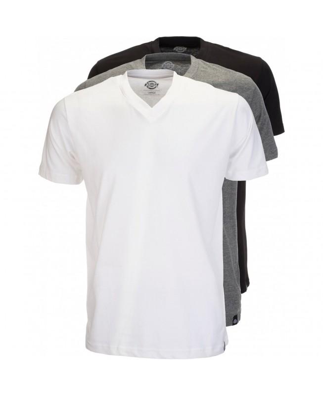 9857f64354c0f8 Dickies - T-Shirt Pack 06 210204 3x Men Multi Colour V-Neck