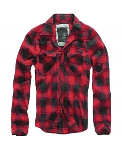 Brandit - Checkshirt, red...