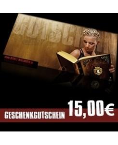 15 EUR Geschenkgutschein