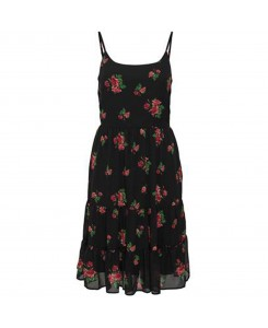 Only - onlROSALIE Strap Short Dress WVN 15145060 Black/Rosalie Fl