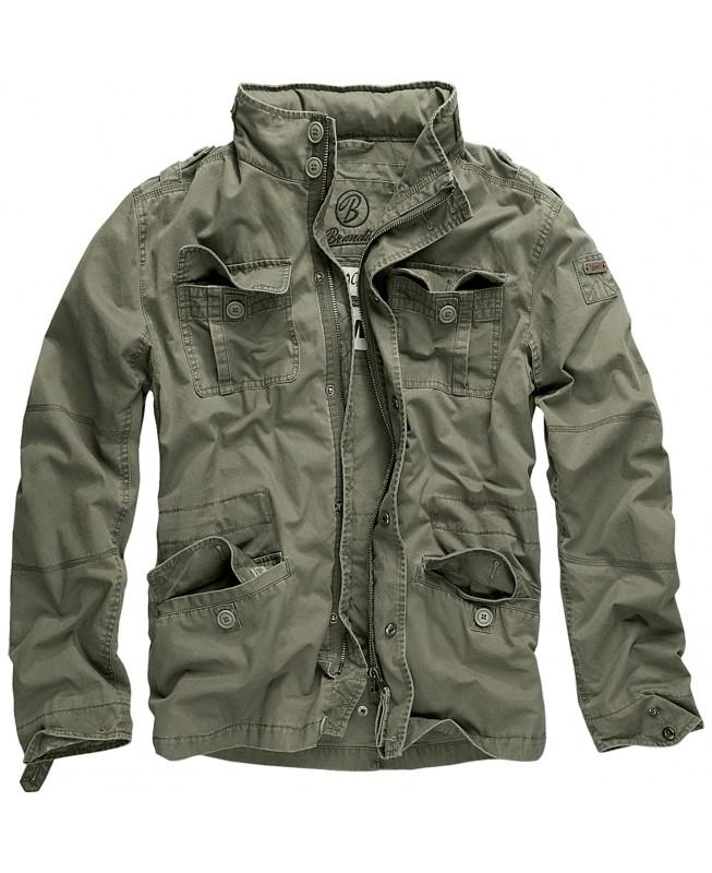 Brandit Britannia Jacket 3116 1 Oliv Jacke Herren Feldjacke Used Look