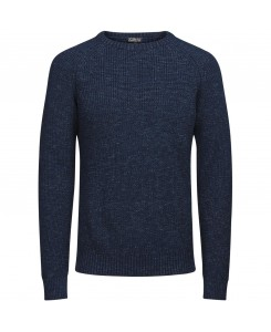 Jack & Jones - JORUMUT KNIT CREW NECK 12118174 Total Eclipse/Knit Fit