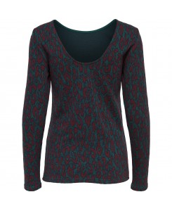 Only - onlVIGGA L/S TOP ESS 15143372 Refelecting Pond/Leopard