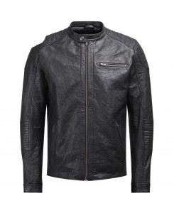 Jack & Jones - JCOCOP LEATHER JACKET NOOS 12124257 Black/Leather