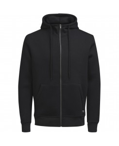 Jack & Jones - JORSTAN SWEAT ZIP HOOD 12124871 Black/Reg Fit