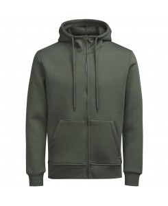 Jack & Jones - JORSTAN SWEAT ZIP HOOD 12124871 Thyme/Reg Fit