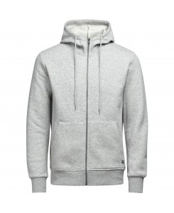 Jack & Jones - JORSTAN SWEAT ZIP HOOD 12124871 Light Grey Mela/Reg Fit