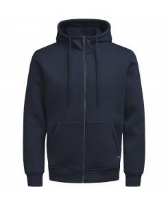 Jack & Jones - JORSTAN SWEAT ZIP HOOD 12124871 Total Eclipse/Reg Fit