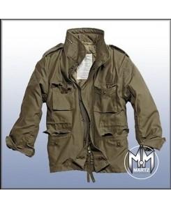 by MMB - M65 Feldjacke Oliv, Parka US Style Jacke mit Futter