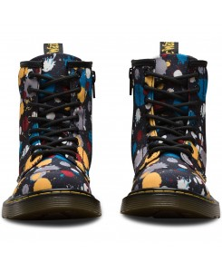 Dr. Martens - Delaney Splat 22261001 Black Splatter T-Canvas