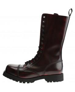 Boots & Braces - 14-Loch Burgundy Rub-Off