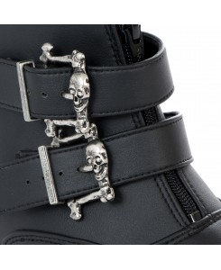 Boots & Braces - Winkelpiker 2-Buckle Vegetarian 601-576 Textile Black