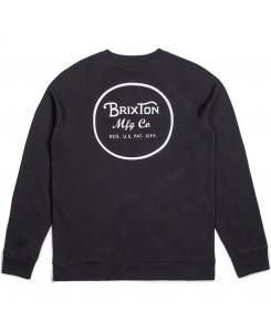 Brixton - Wheeler Crew Fleece 02146 Black/White
