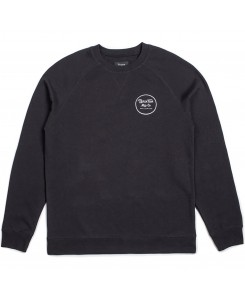 Brixton - Wheeler Crew Fleece 02146 Black/White