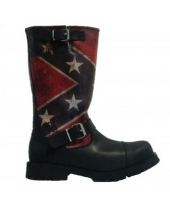 Boots & Braces - Motorcycle Rebel Flag