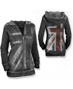 Alchemy England - Girly Hoodie Zip Metal Union Jack 2697