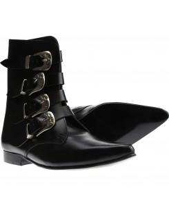 Boots & Braces - Winkelpiker 4 Schnallen schwarz