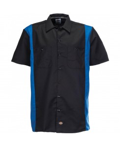 Dickies - Two Tone Work SHT WS508BKRB Black/Royal