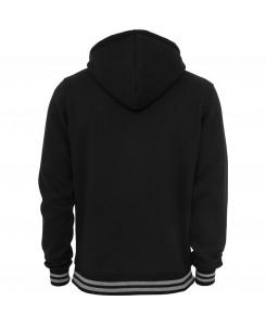 Urban Classics - TB288 black/grey, Hooded College Sweatjacke