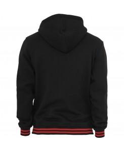 Urban Classics - TB288 blk/red, College hooded Sweat