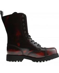 Boots & Braces - 10-Loch Burgundy Rub-Off