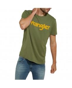 Wrangler - SS Logo Tee W7A86D3FR Olivine