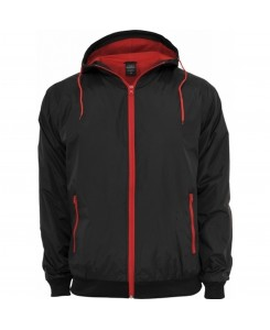 Urban Classics - TB147 black/red - Contrast Windrunner