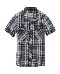 Brandit - Roadstar Shirt 1/2 Sleeve 4012-69 Black/ Anthra Checked
