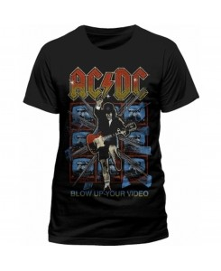 CID - AC/DC - BLOW UP YOUR VIDEO Logo T-Shirt
