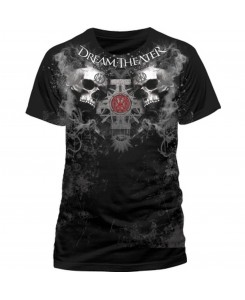 CID - Dream Theater - Double Skull T-Shirt Black