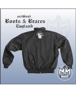 Boots & Braces - Englandjacke Logo & Skull schwarz