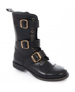 Boots & Braces - 12-Loch 3-Schnallen Steampunk
